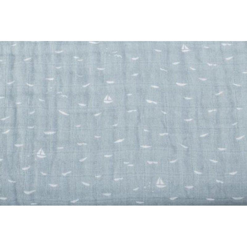 Stokke Blanket Muslin Cotton κουβέρτα μουσελίνα Blue Slate Sea
