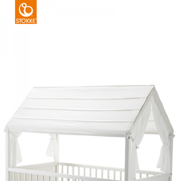 Stokke home bed roof οροφή κρεβατιού white