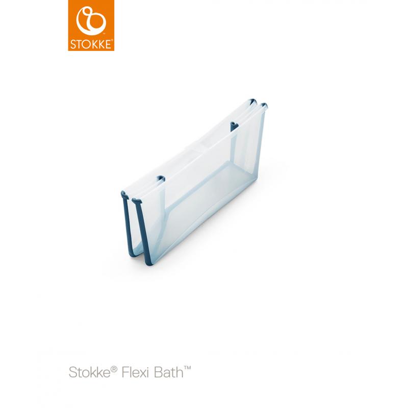 Stokke flexi bath X-Large μπανάκι transparent blue 82x41 cm 0-6 years