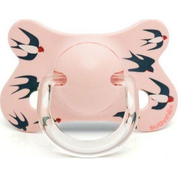 Suavinex Fusio Πιπίλα Physio θηλή σιλικόνης Pink Swallow +4/18M(3801218)