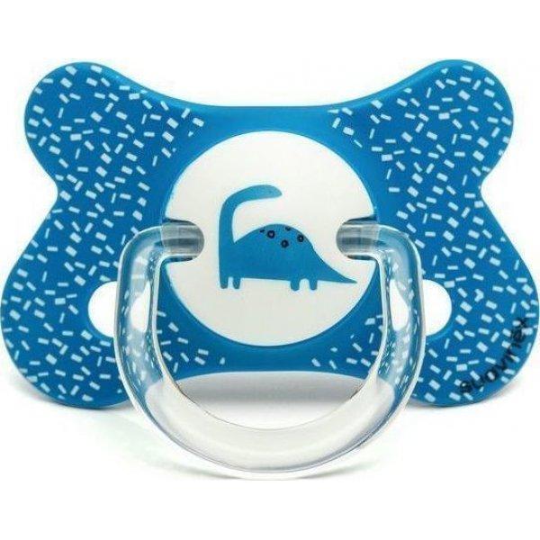 Suavinex Fusio Πιπίλα Physio/Θ  σιλικόνης Blue Dino+4/18M(3801225)