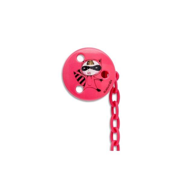 Suavinex στρογγυλή αλυσίδα πιπίλας με κλιπ pink secret 3153792
