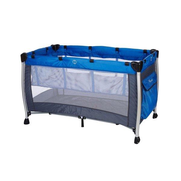 Baby Adventure Παρκοκρέβατο 2 Θέσεων  διαστάσεων 60x120cm blue grey