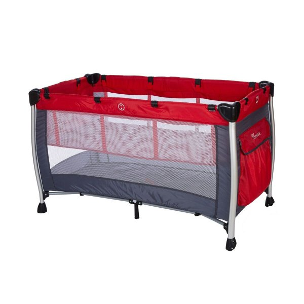 Baby adventure Παρκοκρέβατο 2 Θέσεων  διαστάσεων 60x120cm red grey