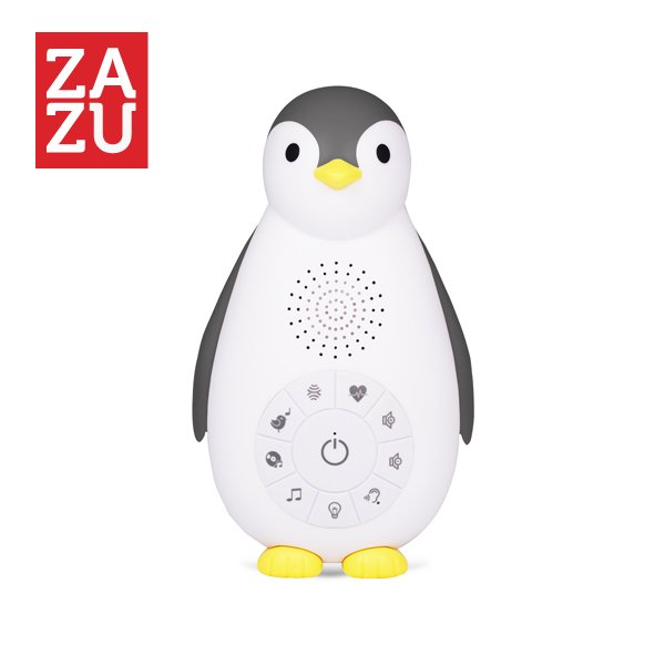 ZAZU Zoe Πιγκουίνος συσκευή νανουρίσματος, Bluetooth, φως νυκτός grey