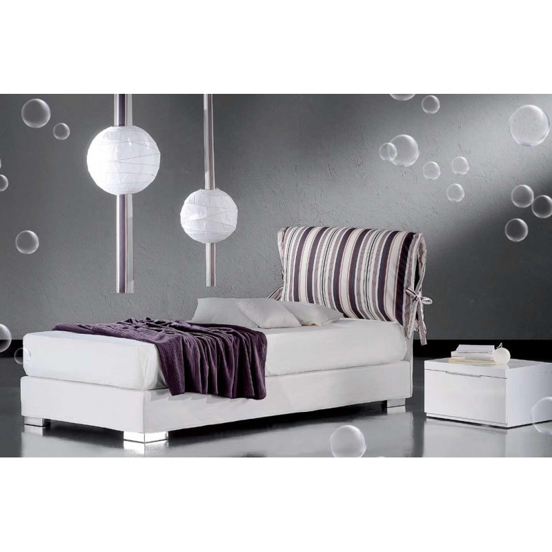 Grecostrom Κρεβάτι ντυτό Pillow Με αποθηκευτικό χώρο