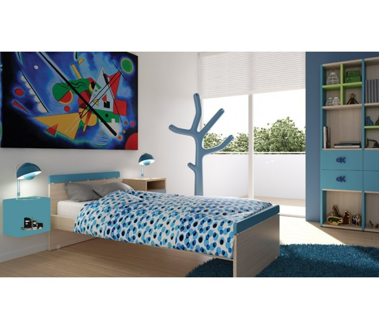 AlfaSet  Παιδικό κρεβάτι Frodo Μονό προέκταση λάκας