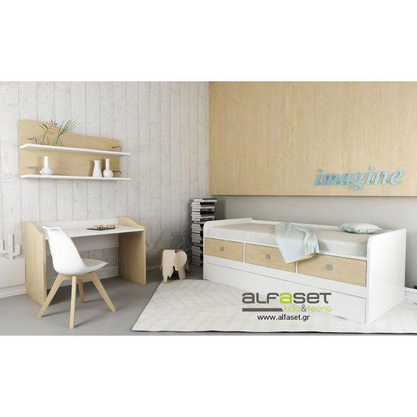Alfaset Κρεβάτι stimo με αποθηκευτικό χώρο και 2 κρεβάτι