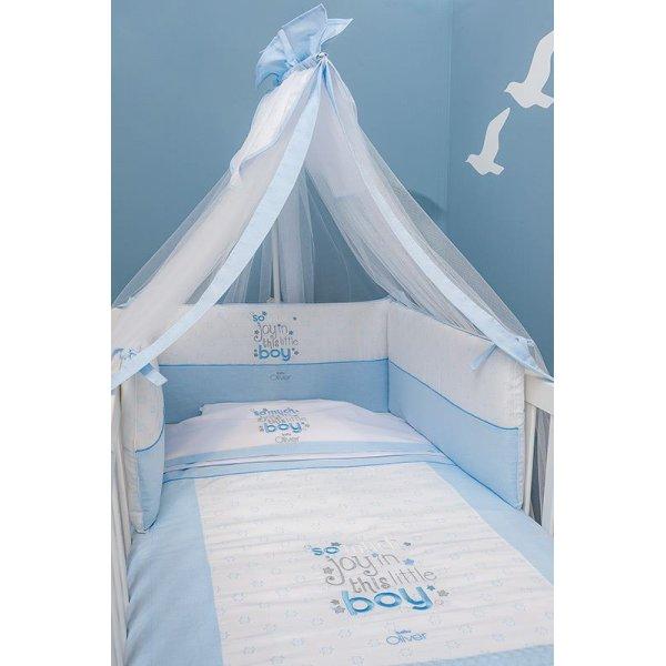 04e49e5dc38 Baby oliver My little blue joy σετ προίκας 3 τεμ πάντα, πάπλωμα κουνουπιέρα