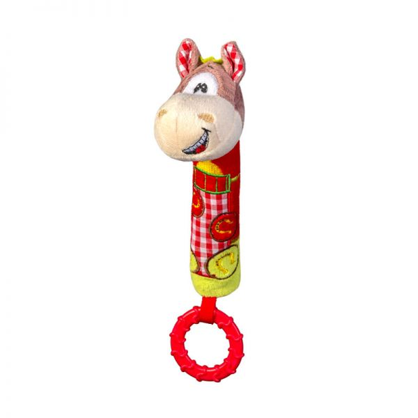 Baby Ono Squeaker toy with teether horse λούτρινο μασητικό