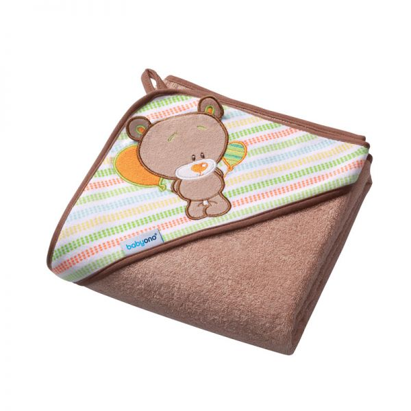 Baby Ono Terry hooded towel 100x100  beige βελουτέ πετσέτα μπεζ