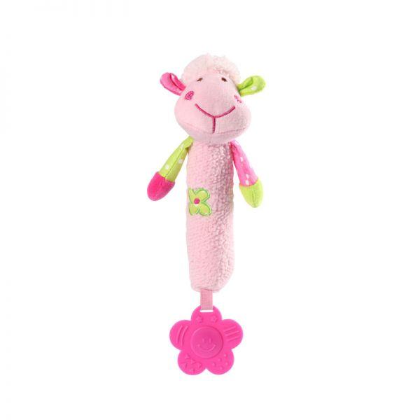 Baby Ono Velour toy with squeaker lamb μαλακό παιχνίδι με ήχους