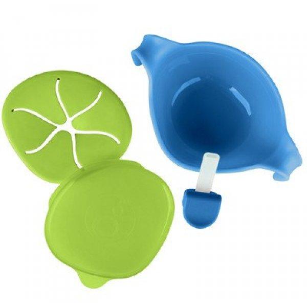 B.Box bowl + straw μπολ φαγητού 3 σε 1 blue