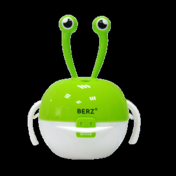 Berz dinnerware βρεφικό σετ φαγητού 5 σε1 καβούρι πράσινο