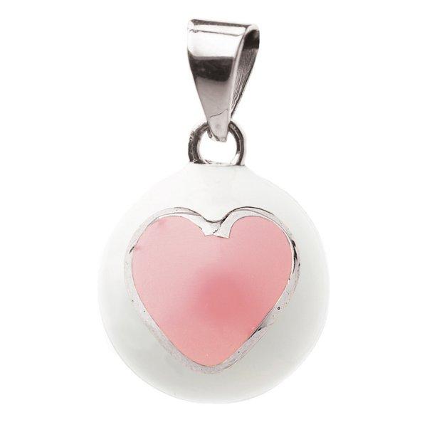 22fa7c54c86 Bola white with pink heart μουσικό μενταγιόν εγκυμοσύνης