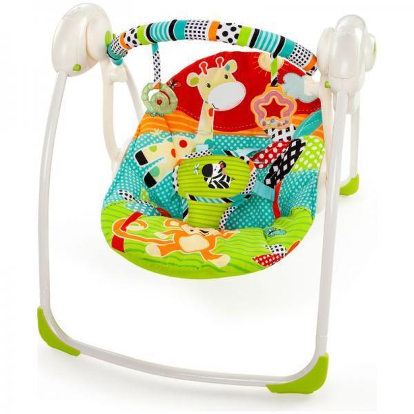 Bright starts κούνια Bright Starts™ Roaming Safari Portable Swing