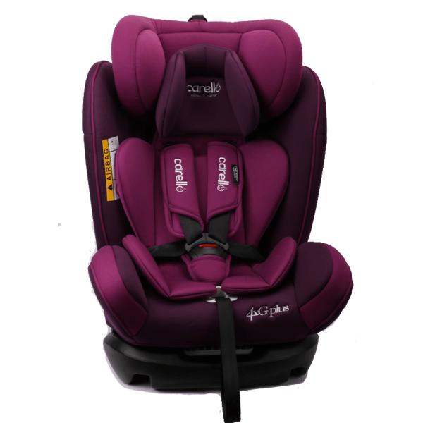 Carello κάθισμα αυτοκινήτου 4ΧG Plus 0-36kg Purple