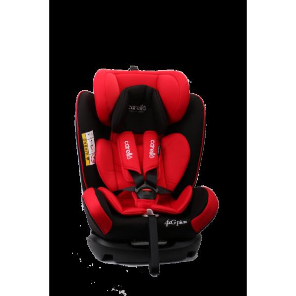 Carello κάθισμα αυτοκινήτου 4ΧG Plus fix 0-36kg Red