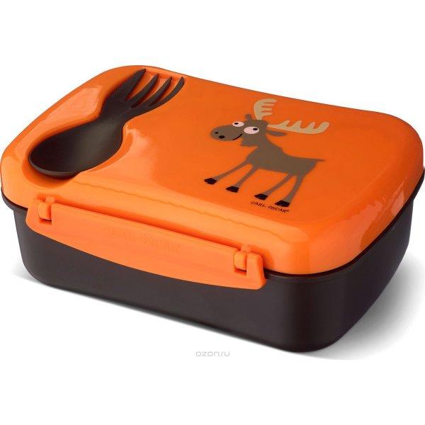 Carl Oscar nice lunch box orange με παγοκύστη μπολάκι και κουταλοπήρουνο