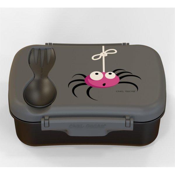 Carl Oscar nice lunch box γκρι με παγοκύστη μπολάκι και κουταλοπίρουνο
