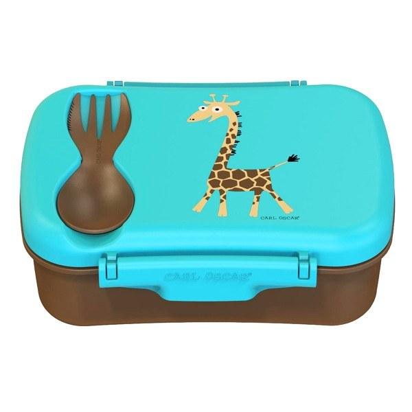 Carl Oscar nice lunch box μπλε με παγοκύστη μπολάκι και κουταλοπίρουνο
