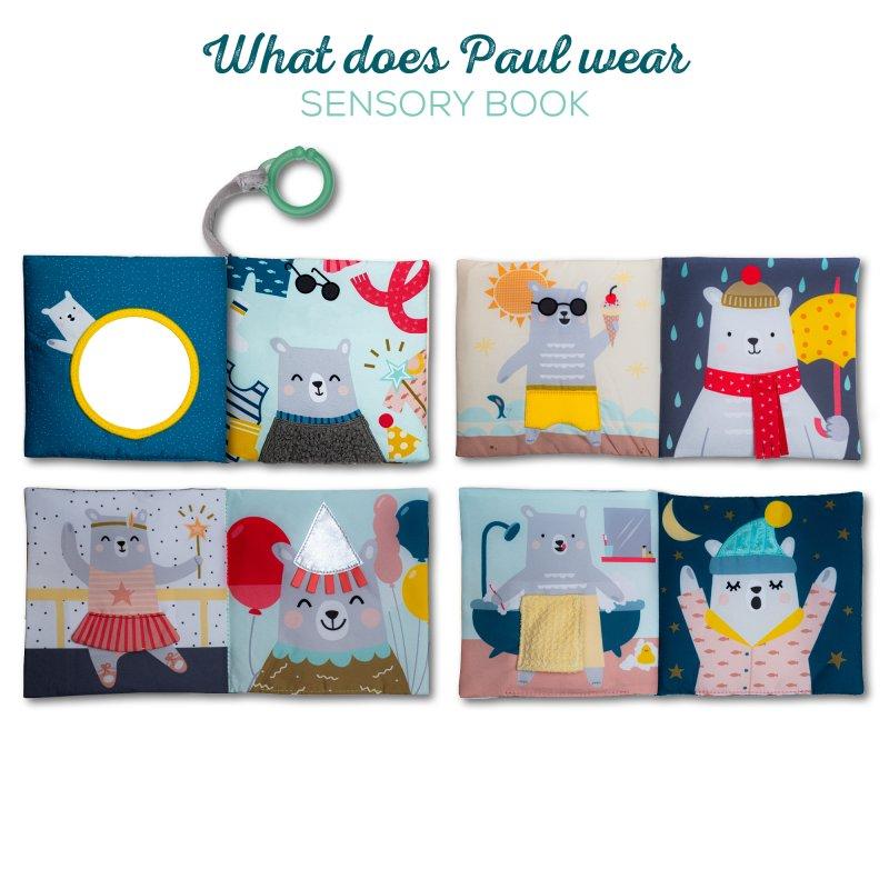 Taf Toys Εκπαιδευτικό Βιβλιαράκι What Does Paul Wear