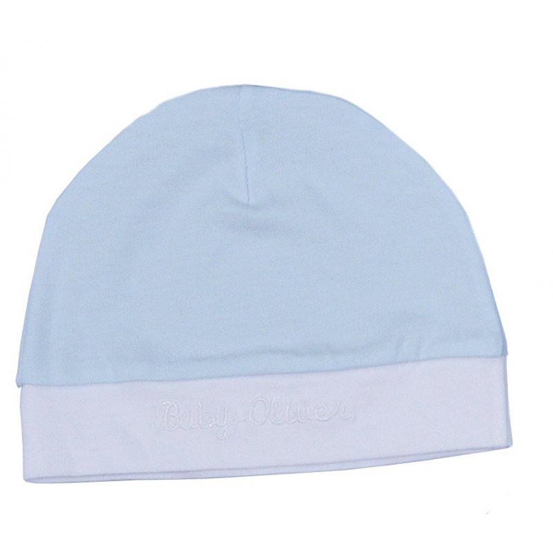 Baby Oliver Σκουφάκι Γαλάζιο - Λευκό