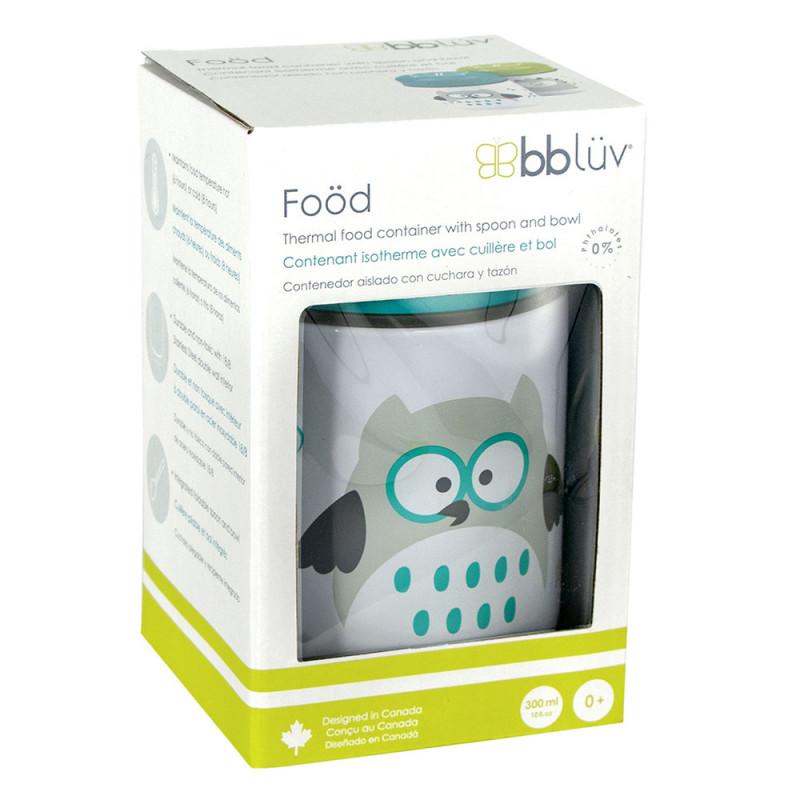 BBluv Food Θερμός Φαγητού με Κουτάλι Aqua 300ml