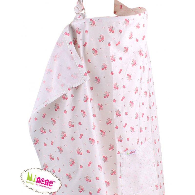 Minene Ποδιά Θηλασμού Pink Flower