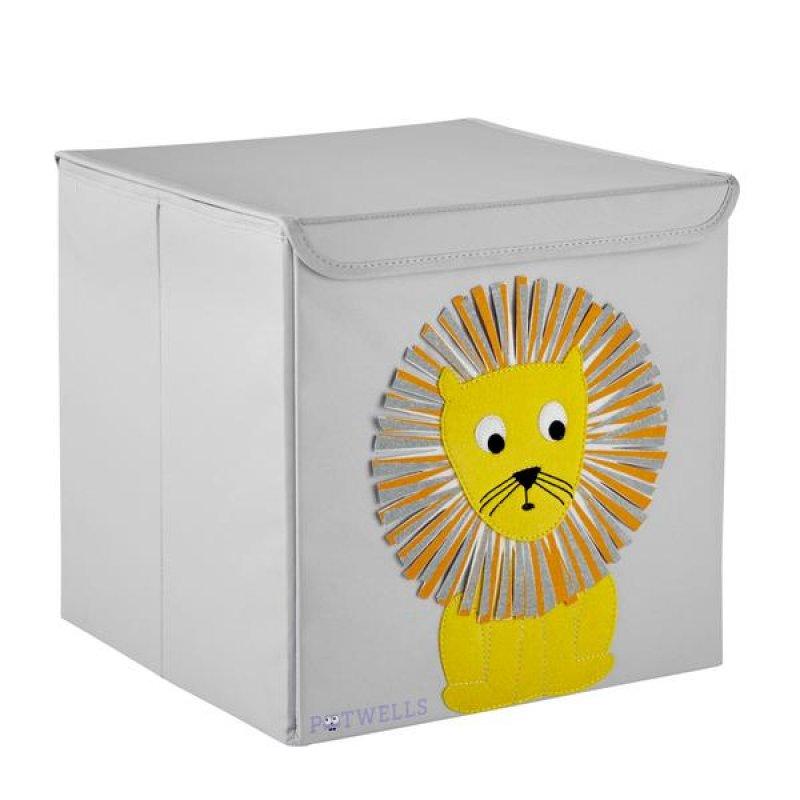 Potwells Κουτί Αποθήκευσης Lion 33x32x32 cm