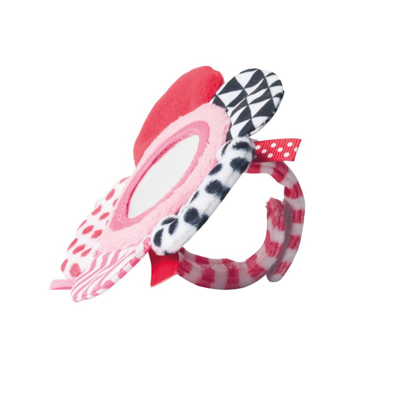 Canpol Babies Μαλακό Παιχνίδι Καρπού με Velcro ZigZag Pink 0m+