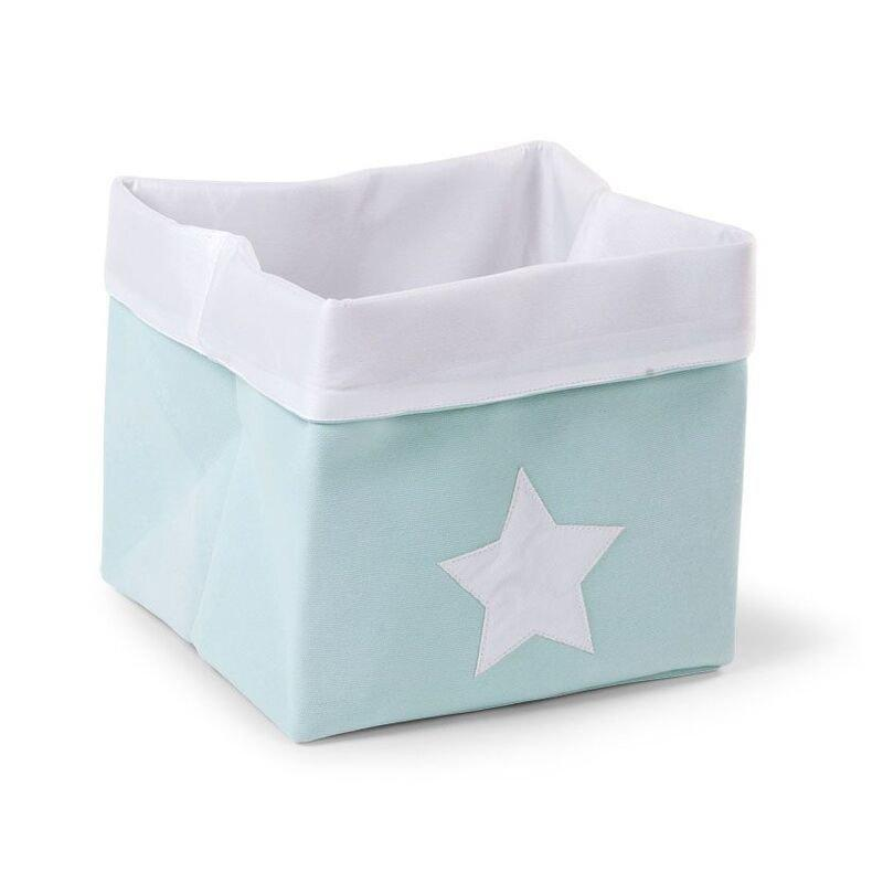 Childhome Κουτί Αποθήκευσης Kαμβάς Mint White 32 x 32 x 29