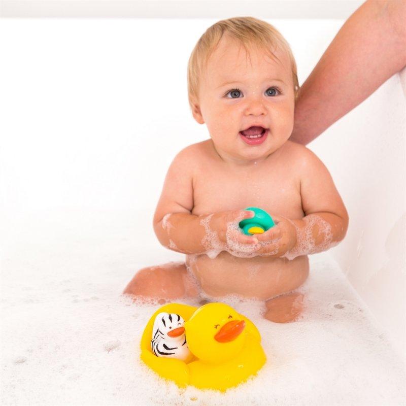 Infantino Duck 'n' Family Λαστιχένια Παπάκια Μπάνιου 3τμχ