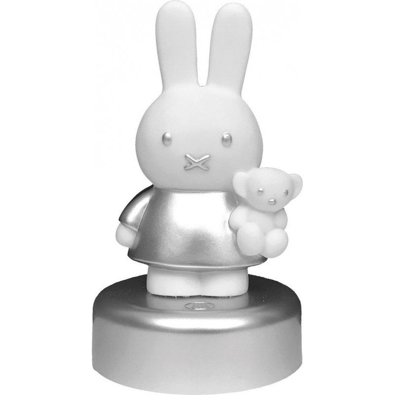 Miffy Φωτάκι Νυκτός Led με Χρονοδιακόπτη Silver