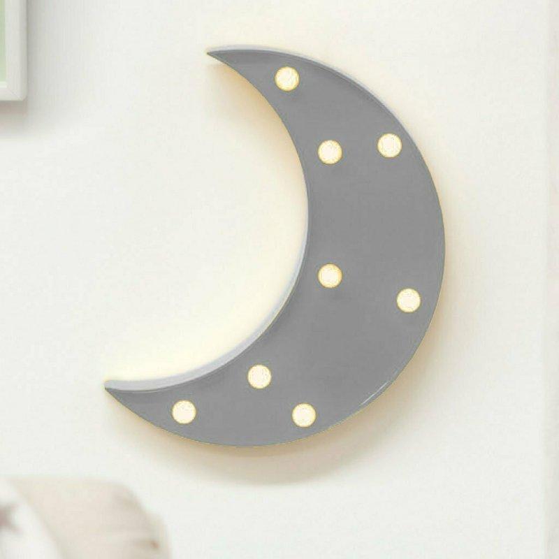 KioKids Φωτιστικό Led Φεγγάρι Γκρι