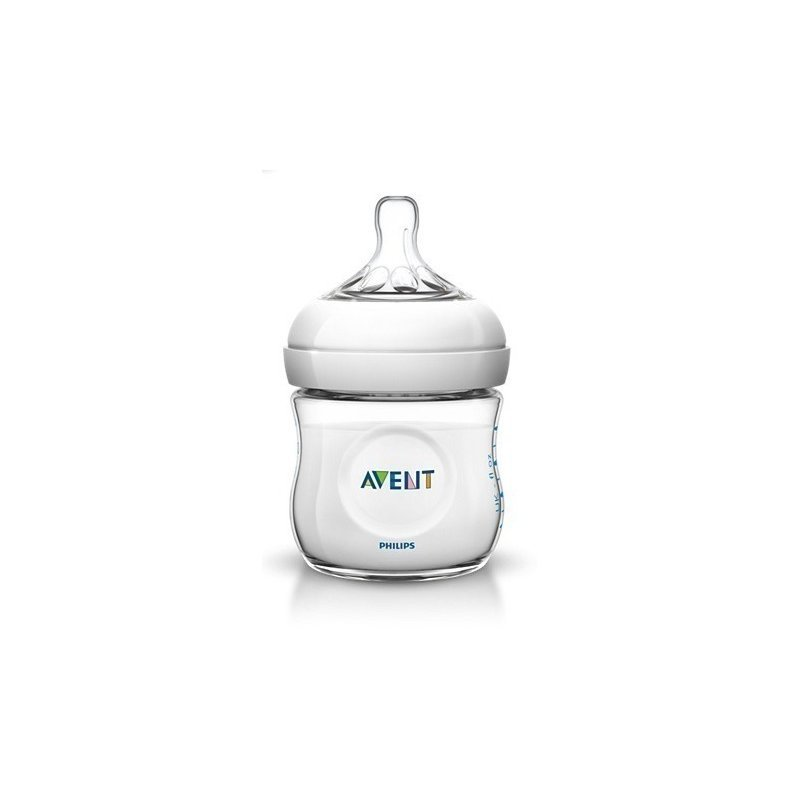 Philips Avent Natural πλαστικό μπιμπερό με θηλή σιλικόνης για νεογέννητο 125ml