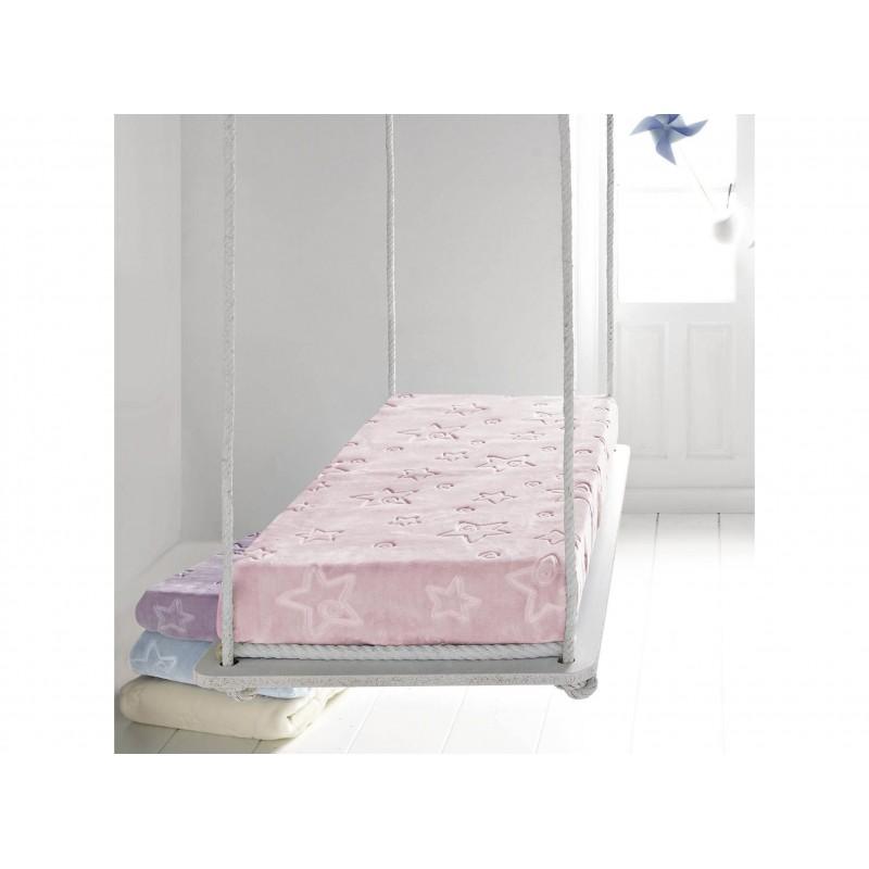Pielsa Κουβέρτα Κούνιας Stars pink 110x140 cm