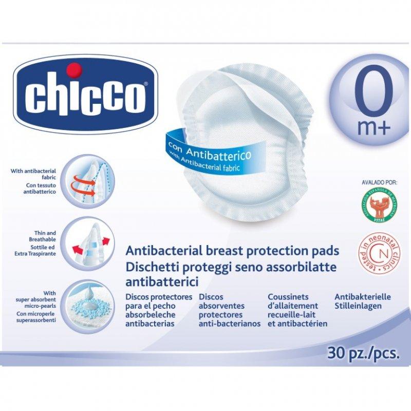 Chicco Επιθέματα στήθους αντιβακτηριακά 60 τεμάχια