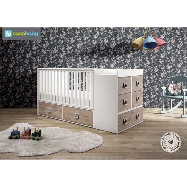 Παιδικό κρεβάτι casababy Modular Naturale