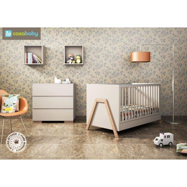 Casa Baby παιδικό Κρεβάτι Oslo και Δώρο το πλαϊνό προστατευτικό κάγκελο!