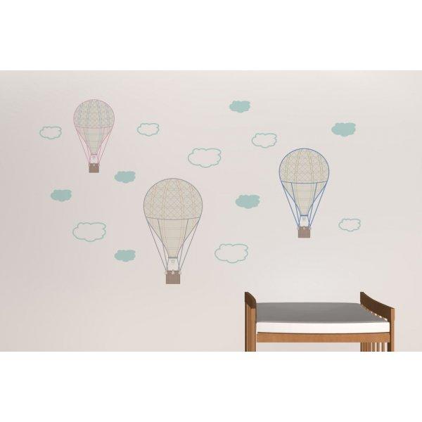 Creative Printing Παιδικά Αυτοκόλλητο τοίχου Αερόστατα