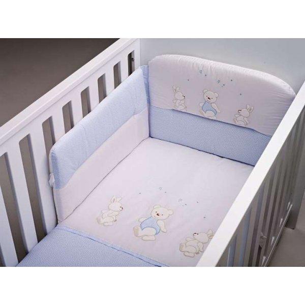 BebeCor σετ προίκα μωρού 6τεμ Περπατούλιδες μπλέ