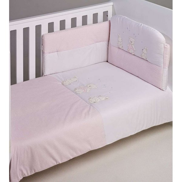 BebeCor σετ προίκα μωρού 6τεμ Περπατούλιδες Ροζ