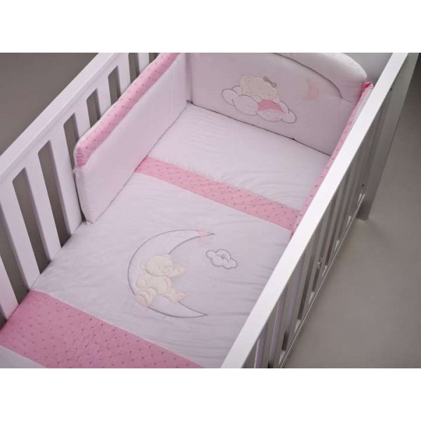 BebeCor σετ προίκα μωρού 6τεμ φεγγαράκι ρόζ