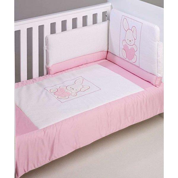BebeCor σετ προίκα μωρού 6τεμ καδράκι πικέ ρόζ