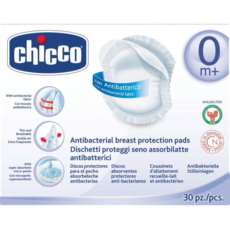 Chicco Επιθέματα στήθους αντιβακτηριακά 30 τεμάχια