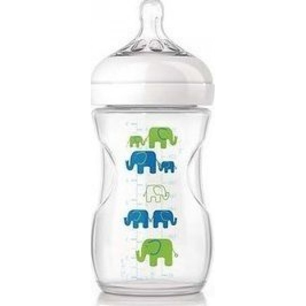 PHILIPS AVENT ΜΠΙΜΠΙΡΟ PP NATURAL 260ml Elephant Blue