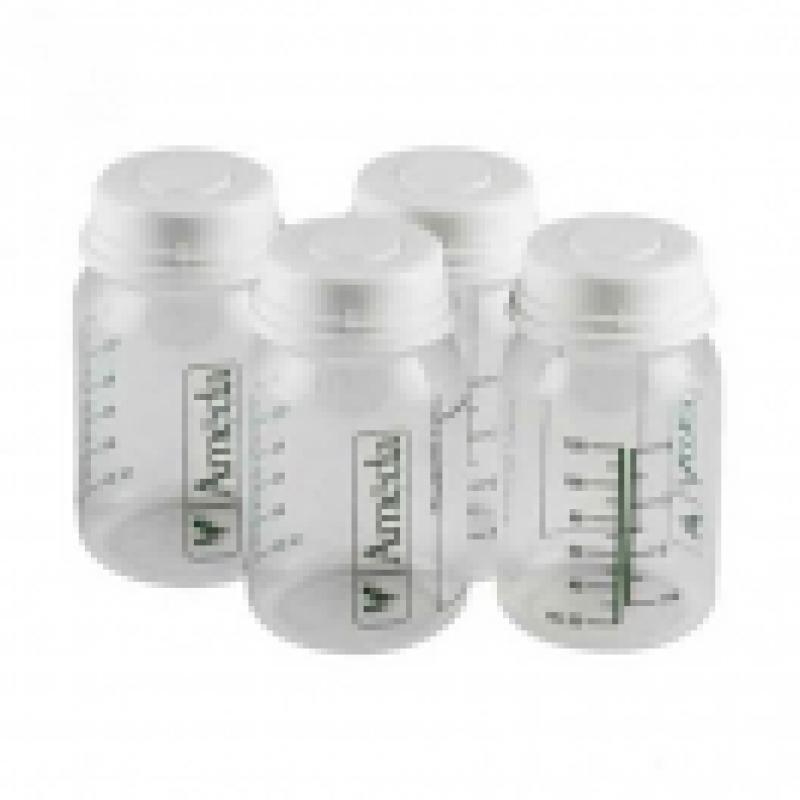 Ameda Μπουκαλάκια Αποθήκευσης Μητρικού Γάλακτος 4τεμ 120ml