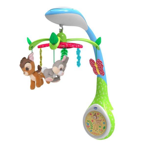 Chicco παιχνίδι κούνιας με προβολέα Bambi το ελαφάκι