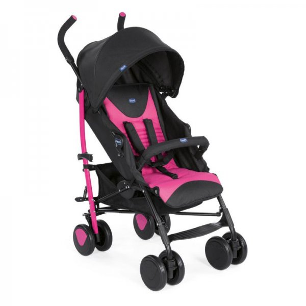 Chicco  καρότσι echo complete με μπάρα Pink